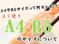 A4やB5サイズって何センチ!?よく使うA4・B5のサイズについて